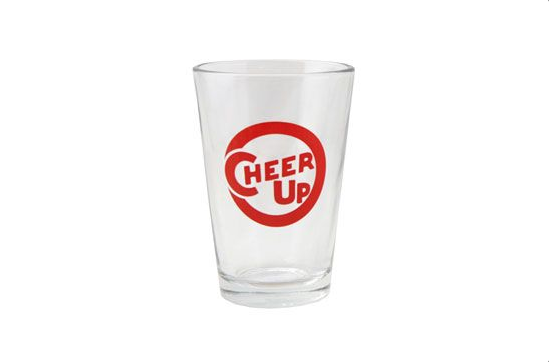 Fishs Eddy Cheer Up Glass