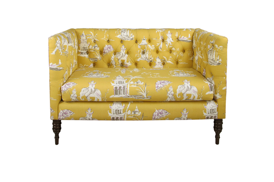 One Kings Lane Eva Tufted Settee