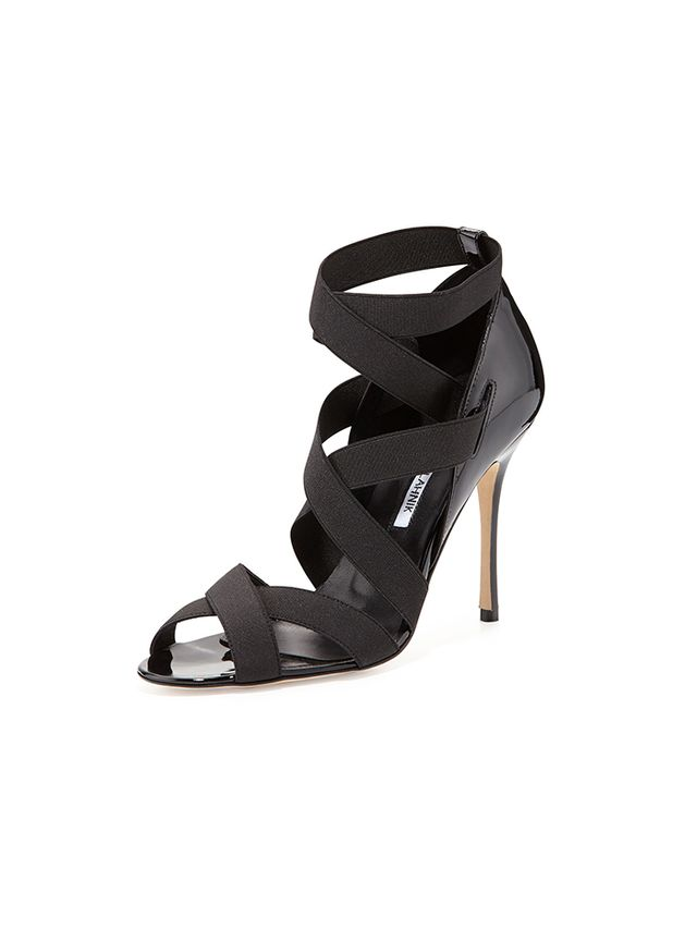 Manolo Blahnik Platee Strappy Elastic Sandal