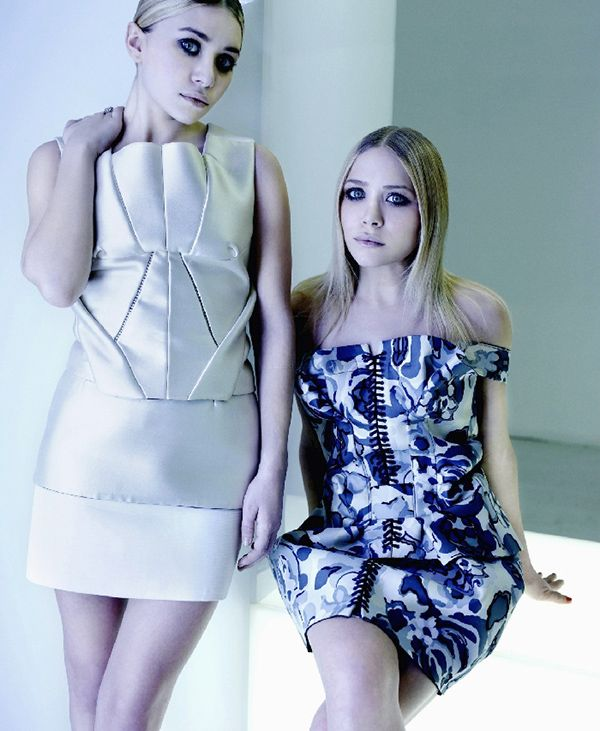 Ashley and Mary-Kate Olsen shot for City in 2008.