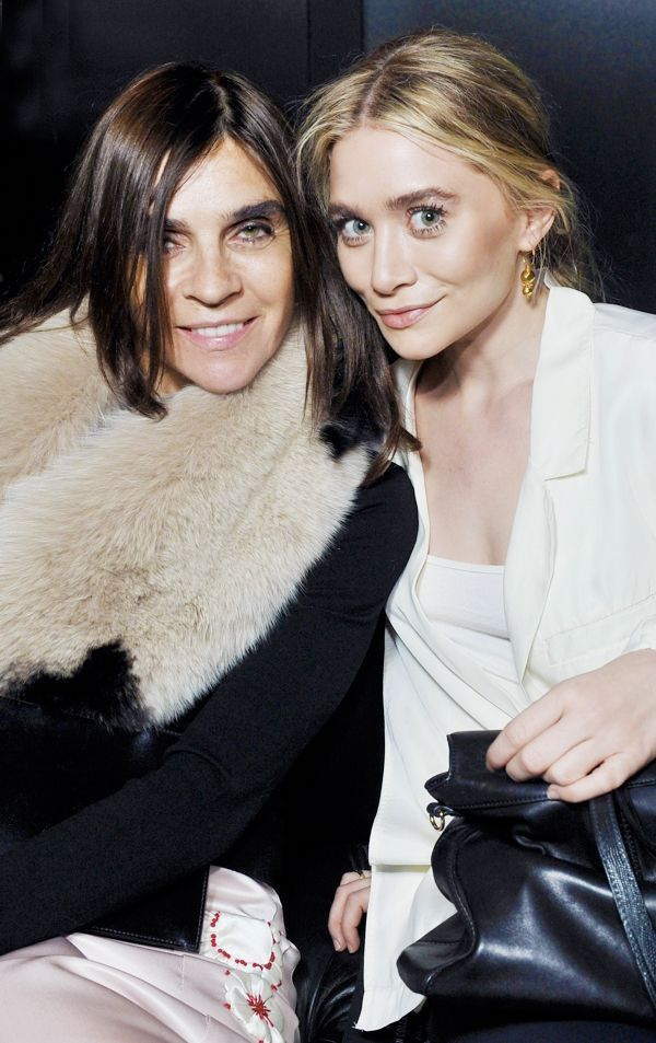 Ashley Olsen with Carine Roitfeld at the H&M F/W 13 show in Paris.