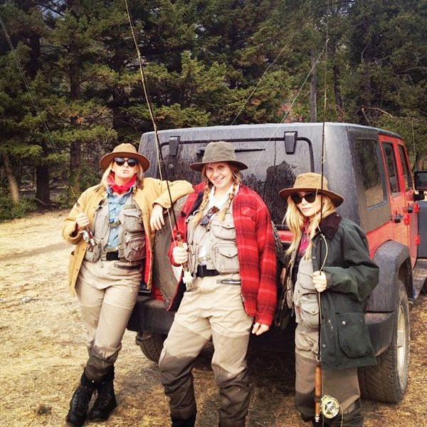 Ashley Olsen and friends fishing in Montana.