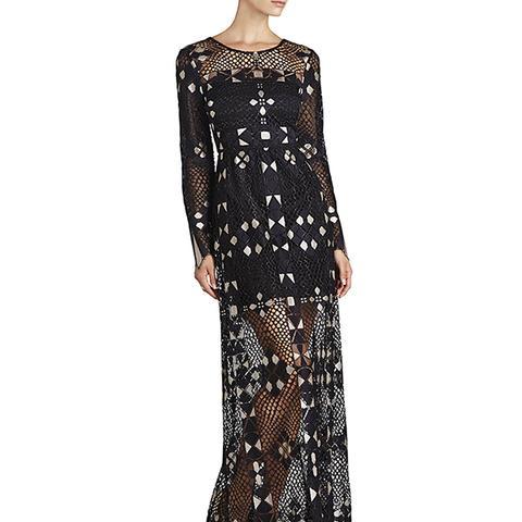 Taliah Long-Sleeve Maxi Dress