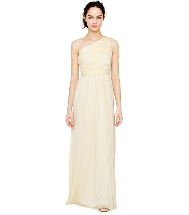 J.Crew Kylie Long Dress in Silk Chiffon