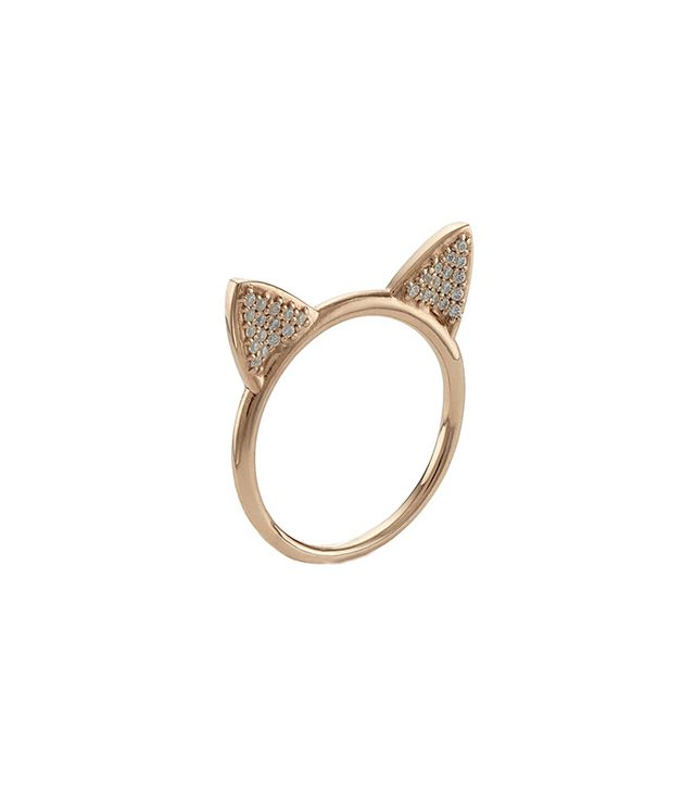 Aamaya By Priyanka Rose Gold Cat Ears Ring