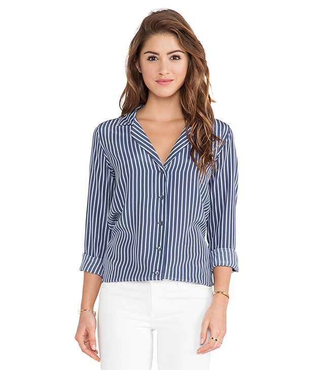 Equipment Adalyn Menswear Striped Blouse