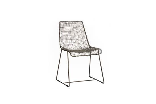 CB2 Reed Zinc Chair