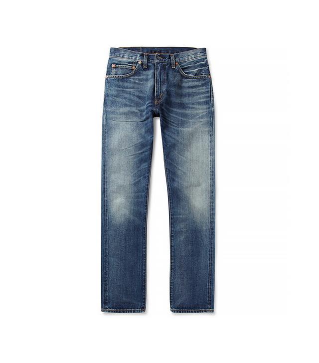 Levi's 1967 505 Regular-Fit Washed Selvedge Jeans