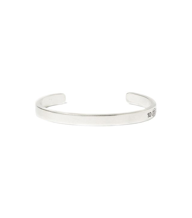 Maison Martin Margiela Engraved Sterling Silver Cuff