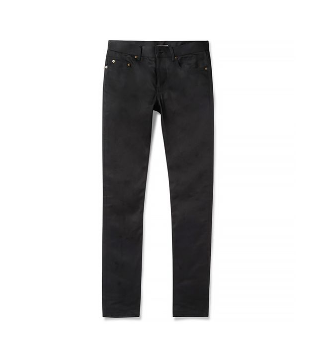 Saint Laurent Slim-Fit Black Denim Jeans