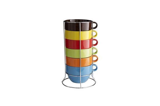 Pier 1 Imports Assorted Cafe Au Lait Mugs