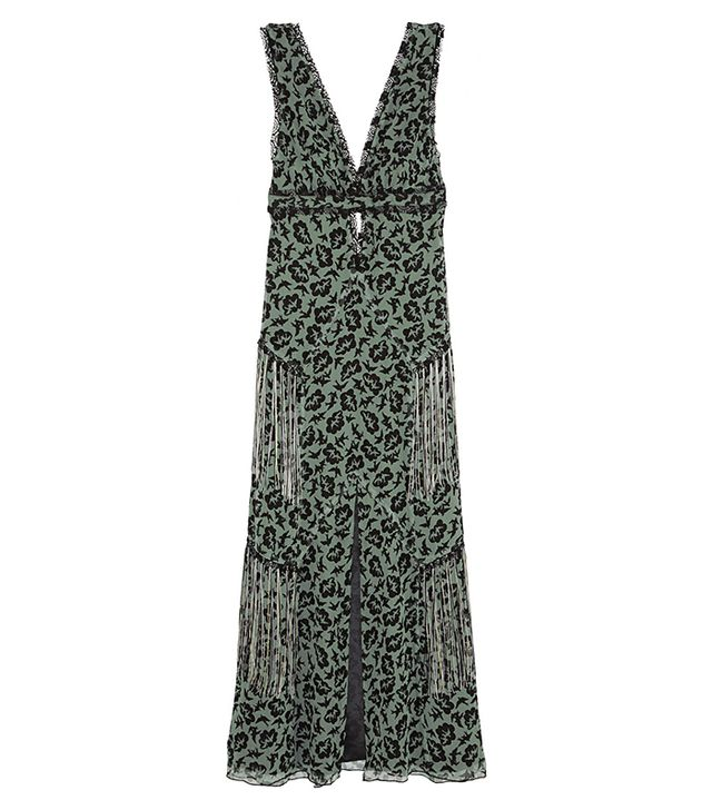 Anna Sui Printed Silk-Chiffon Maxi Dress
