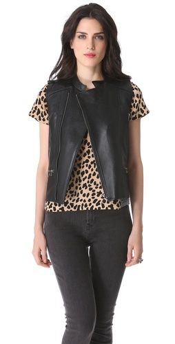 Perforated Leather Vest Perforated Leather Vest