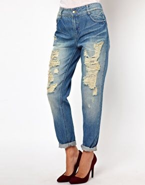 ASOS Only Boyfriend Jean With Rips