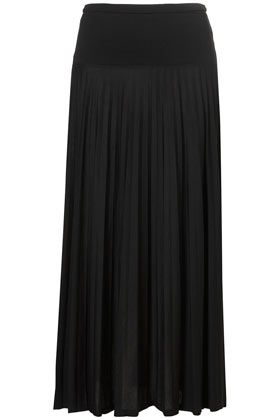 Topshop Pleat Maxi Skirt