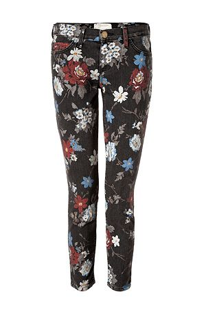 Current/Elliott  The Stiletto Black Wildflower Jeans