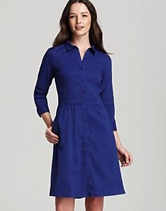 Eileen Fisher Stretch Collar Shirt Dress