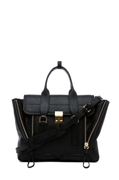 3.1 Phillip Lim Medium Pashli Shark Embossed Satchel
