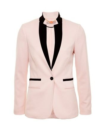 A Wear Pink Contrast Edge Spandex Blazer