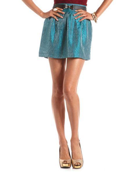 Charlotte Russe  Shimmer Skater Skirt