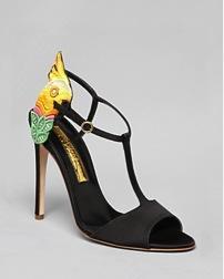 Rupert Sanderson  Yani Open-Toe T Strap Sandals