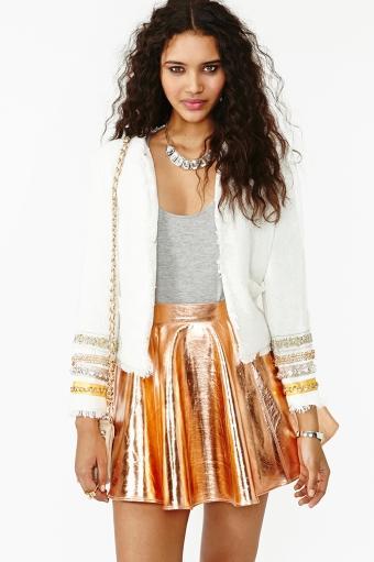 Nasty Gal Jeweled Tweed jacket
