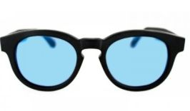Illesteva  Murdoch II Matte Black with Blue Mirrored Lenses