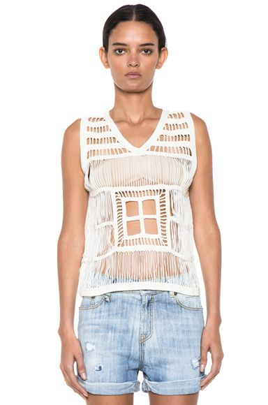 Boy. By Band of Outsiders Macrame V Neck Tank