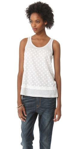 Clu  Paneled Polka Dot Top
