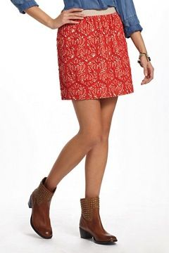 Maeve  Mehndi Embroidered Skirt