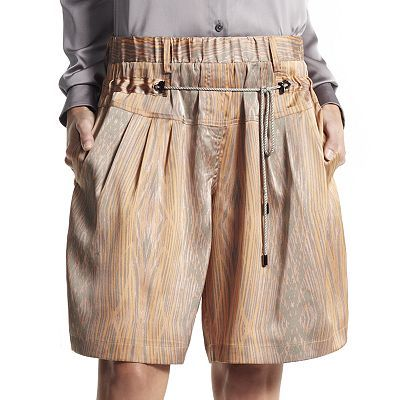 Derek Lam for DesigNation  Striped Charmeuse Shorts