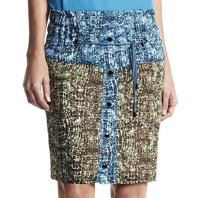 Derek Lam for DesigNation  Animal Colorblock Skirt