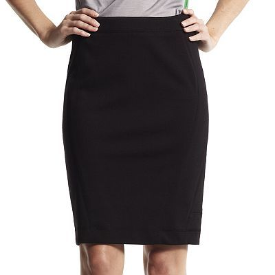 Derek Lam for DesigNation Solid Ponte Pencil Skirt