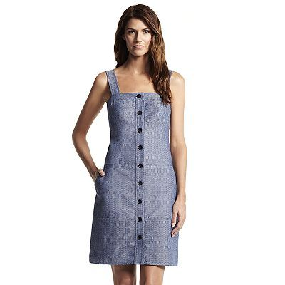 Derek Lam for DesigNation Chambray Jumper Dress