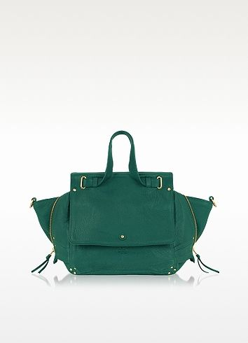 Jerome Dreyfuss Johan Emerald Green Goatskin Satchel