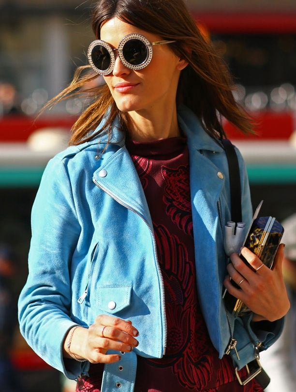 Street Style: Oversized Round Sunglasses