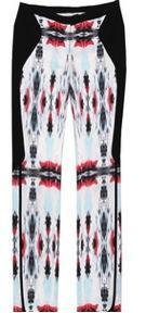 ICB  ICB Mirrored Ink Blot Print Tuxedo Pants