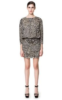 Zara Printed Draped Dress