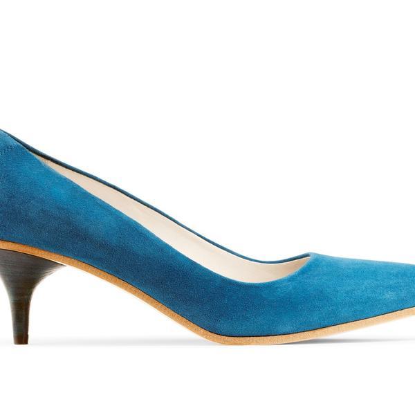 Acne Poe Blue Heels