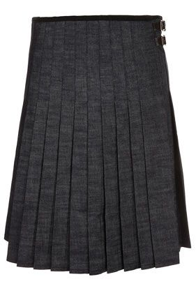 J.W. Anderson for Topshop  Knee Length Denim Kilt