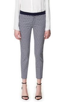 Zara Geometric Print Trousers