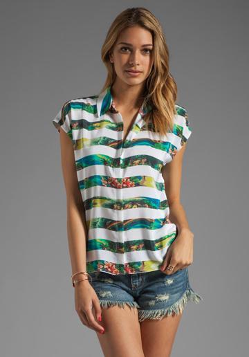 Equipment Leandra Tropical Print Shirt