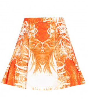 Twisty Parallel Universe  Palm Print Skater Skirt