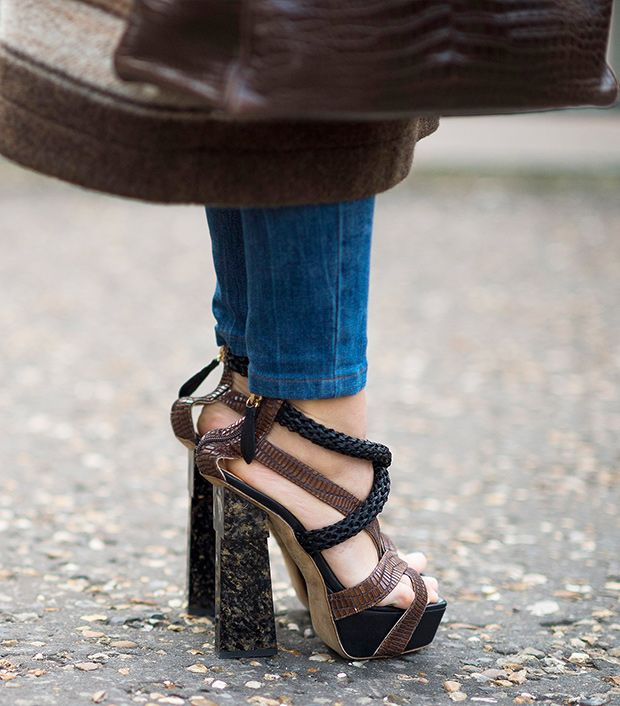 Style note: Opt for rock solid texture with earth tones and mineral platforms.