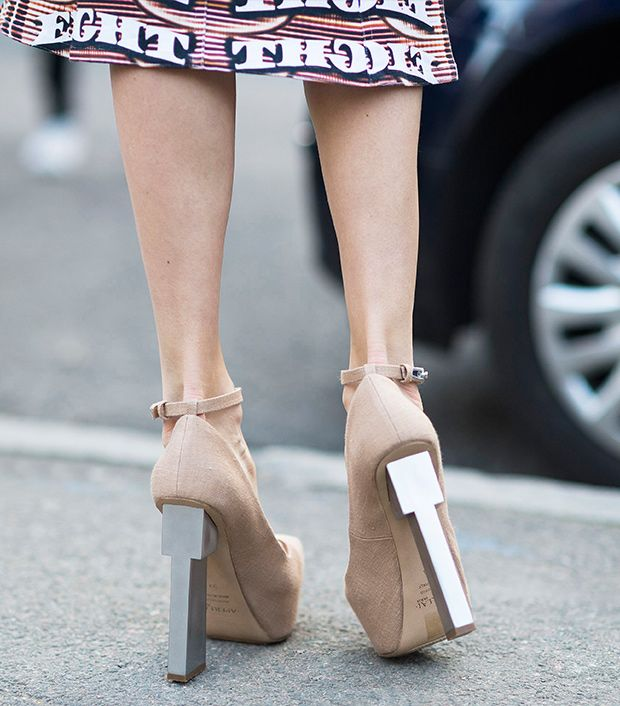 Style note: Reach skyscraper heights with an architectural heel.