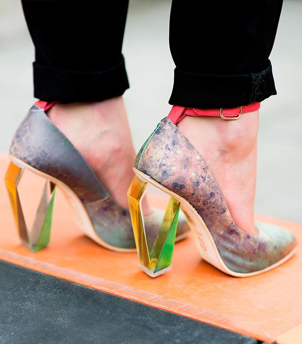 Style note: Look to the future with a pair of lucite shoes.