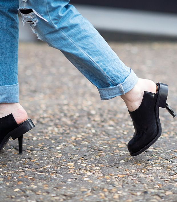 Style note: Cut out the fuss and try clogs with an unexpected touch.