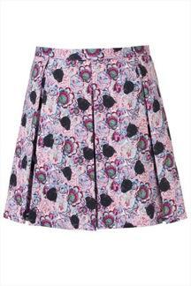 Topshop Panther Print Skirt