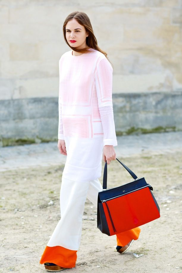 Street Style: Color-Block Pants