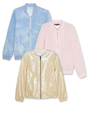 The Bomber Jacket Lightens Up For Spring